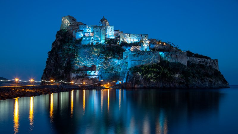 ischia-castello-aragonese-by-night